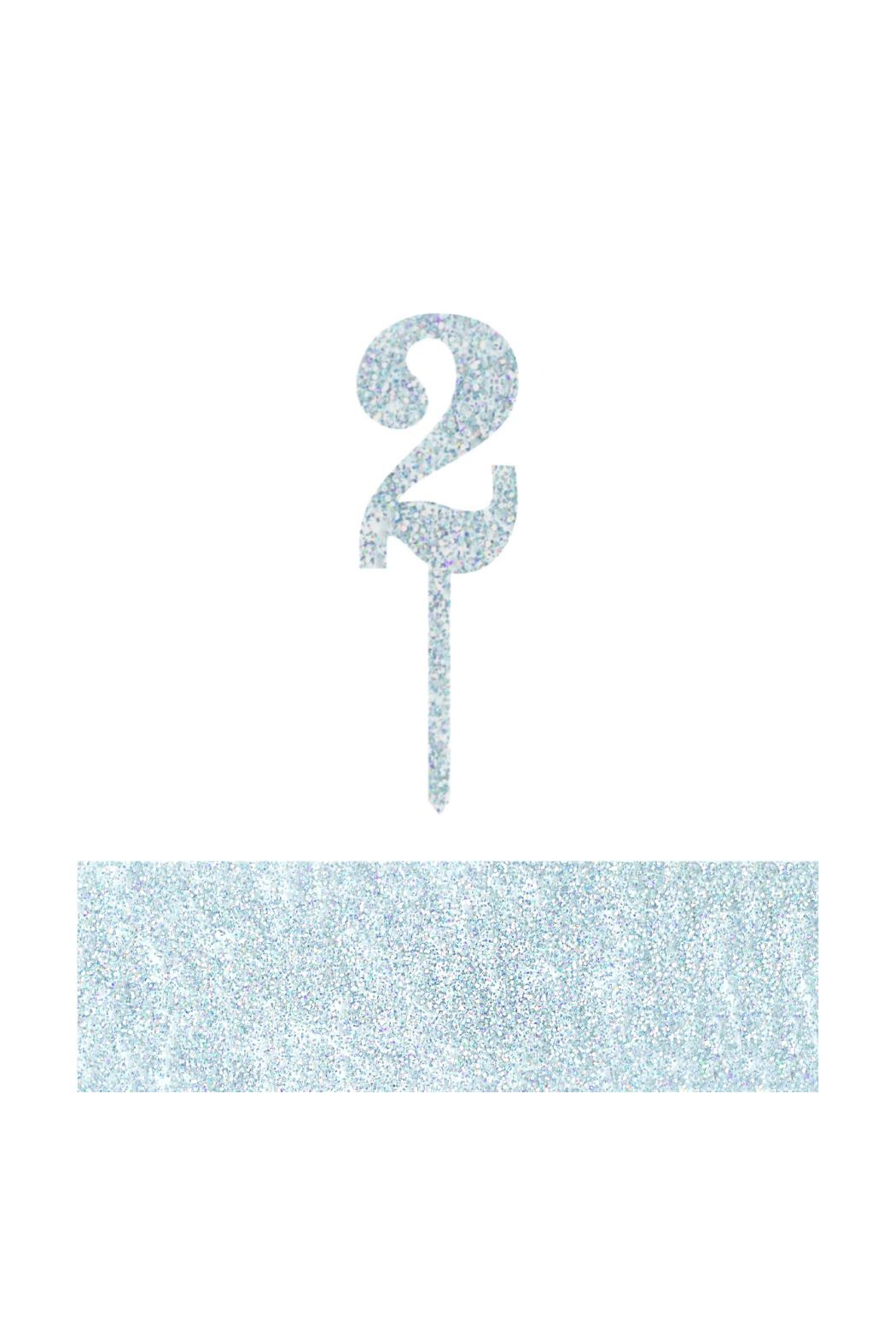 Jollity & Co Number 2 Cake Toppers - Front Cropped Image