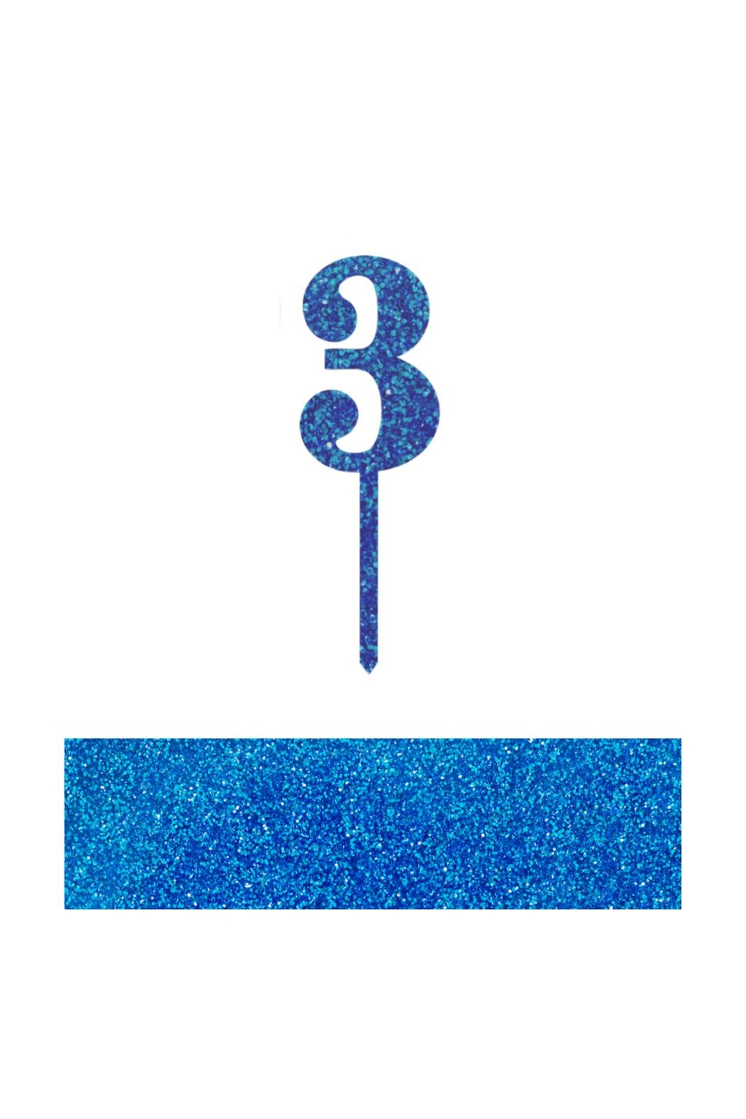 Jollity & Co Number 3 Cake Toppers - Front Cropped Image