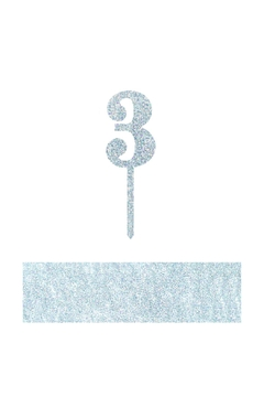 Shoptiques Product: Number 3 Cake Toppers