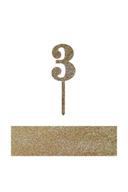 Jollity & Co Number 3 Cake Toppers - Front cropped