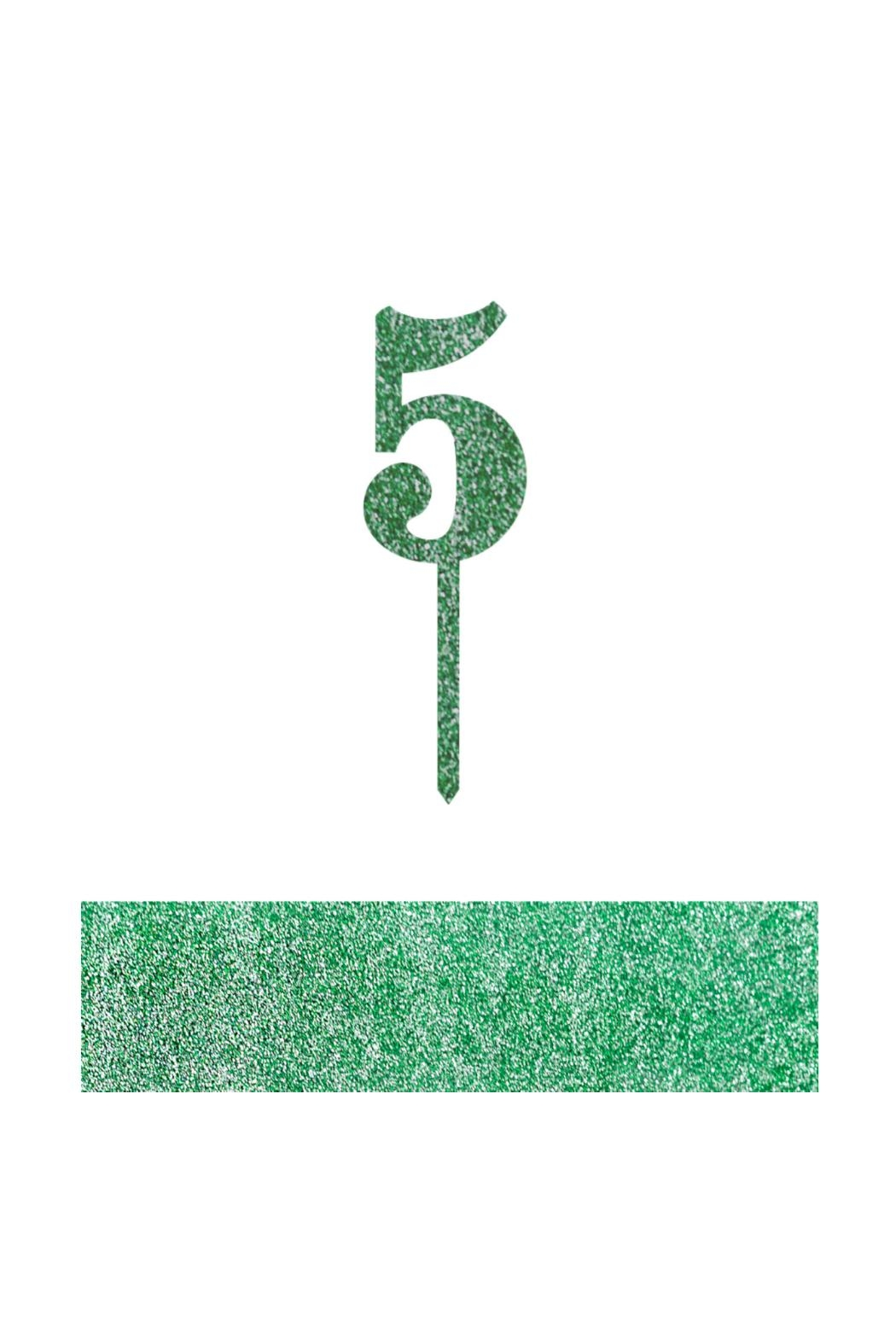 Jollity & Co Number 5 Cake Toppers - Front Cropped Image