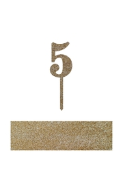 Jollity & Co Number 5 Cake Toppers - Front cropped