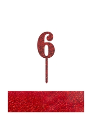 Jollity & Co Number 6 Cake Toppers - Front cropped