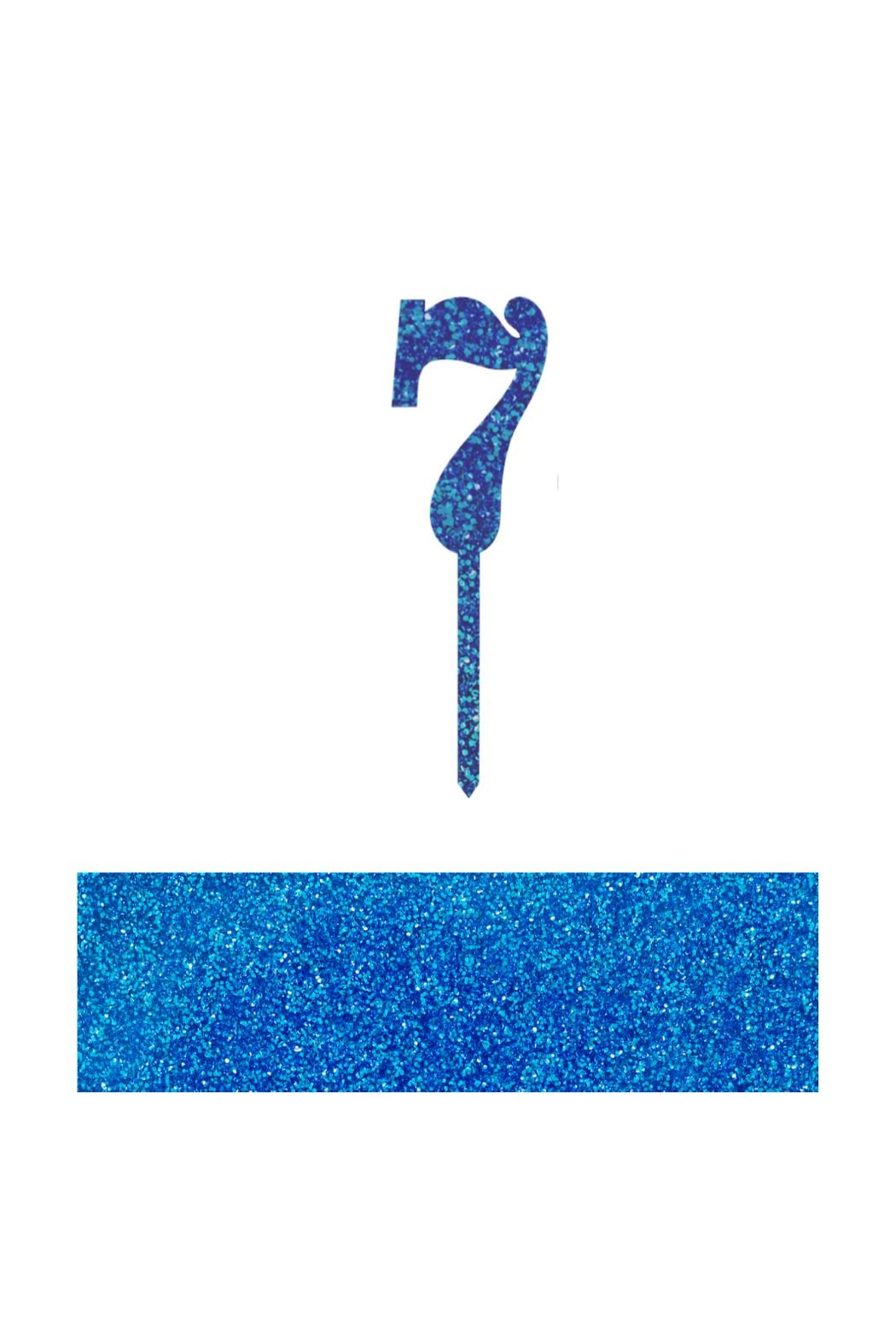 Jollity & Co Number 7 Cake Toppers - Front Cropped Image