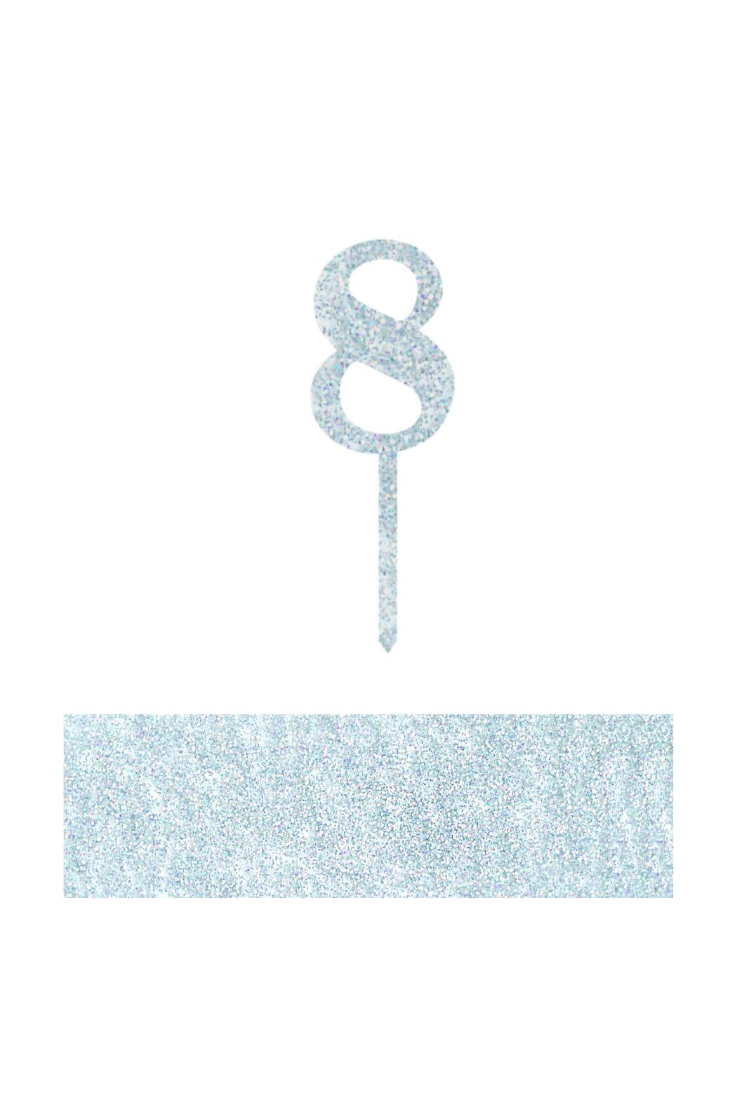 Jollity & Co Number 8 Cake Toppers - Front Cropped Image