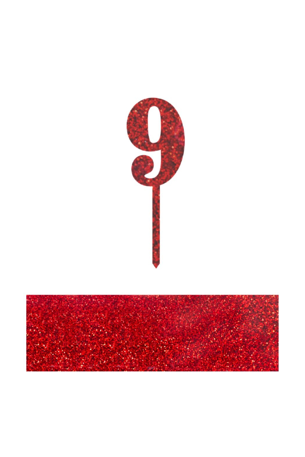 Jollity & Co Number 9 Cake Toppers - Front Cropped Image