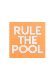 Jollity & Co Rule The Pool Cocktail Napkins - Front cropped