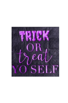 Jollity & Co Trick Or Treat Yo Self Cocktail Napkins - Alternate List Image