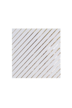 Jollity & Co White & Gold Striped Cocktail Napkins - Alternate List Image