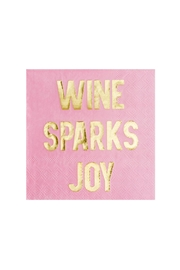 Jollity & Co Wine Sparks Joy Cocktail Napkins - Product Mini Image