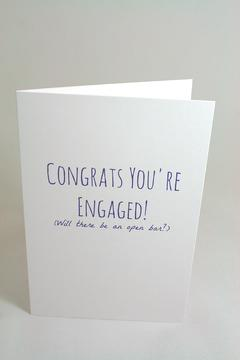 Jolly Good Designs Funny Engagement Card - Alternate List Image