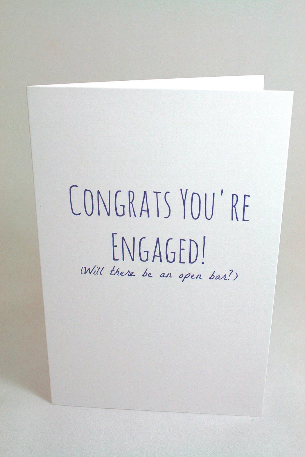 funny engagement card - Engagement Cards
