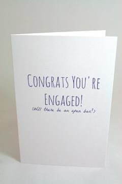 Jolly Good Designs Funny Engagement Card - Product List Image