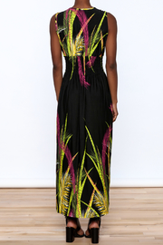 Jon & Anna Floral Black Maxi Dress - Back cropped