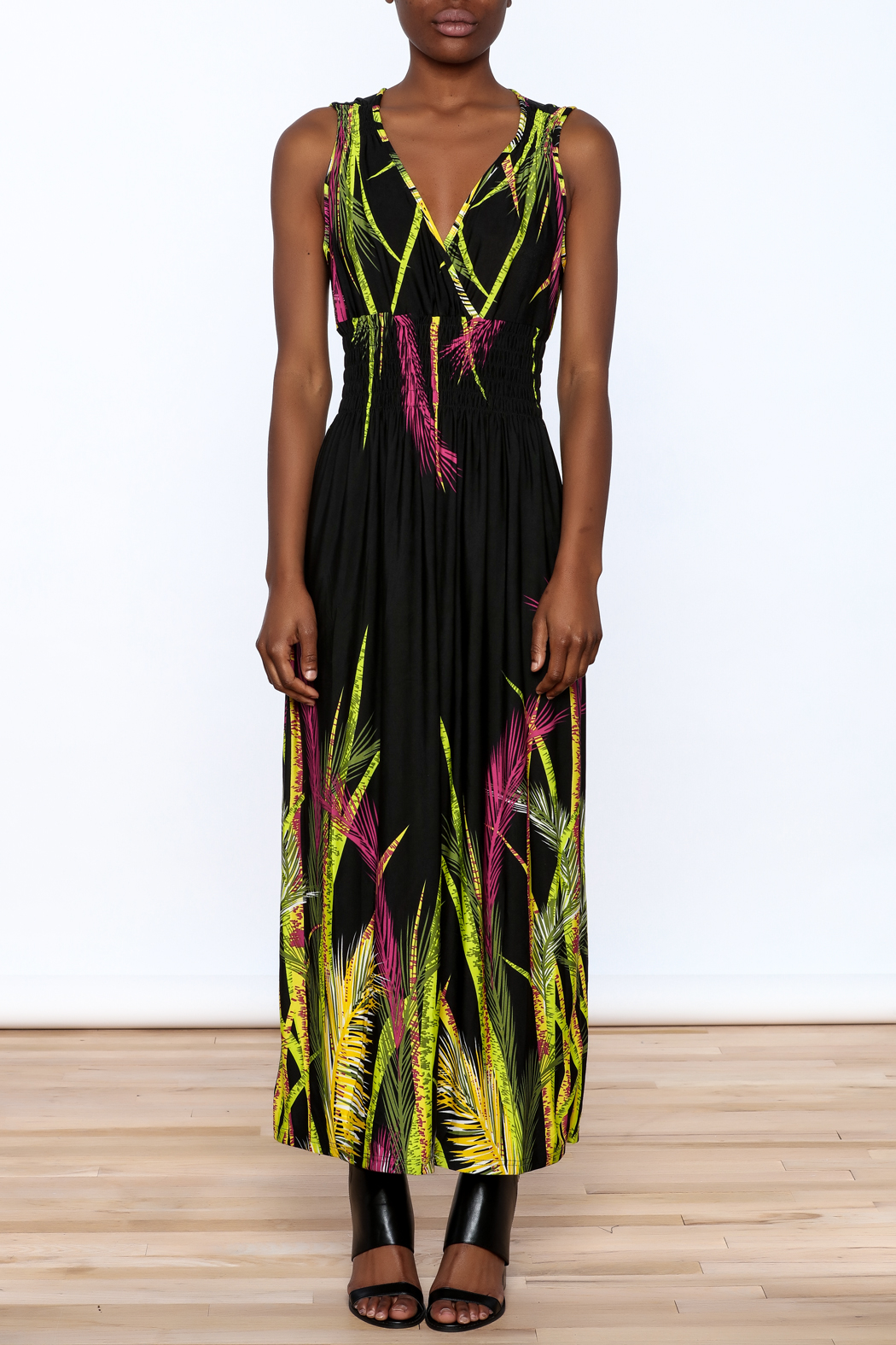 Jon & Anna Floral Black Maxi Dress - Front Cropped Image