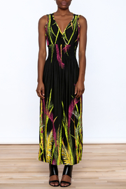 Jon & Anna Floral Black Maxi Dress - Front cropped