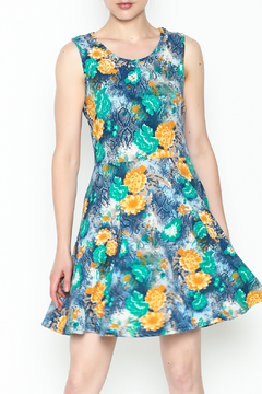 Shoptiques Product: Green Floral Dress