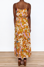 Jon & Anna Mustard Floral Maxi Dress - Back cropped