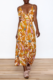 Jon & Anna Mustard Floral Maxi Dress - Front full body