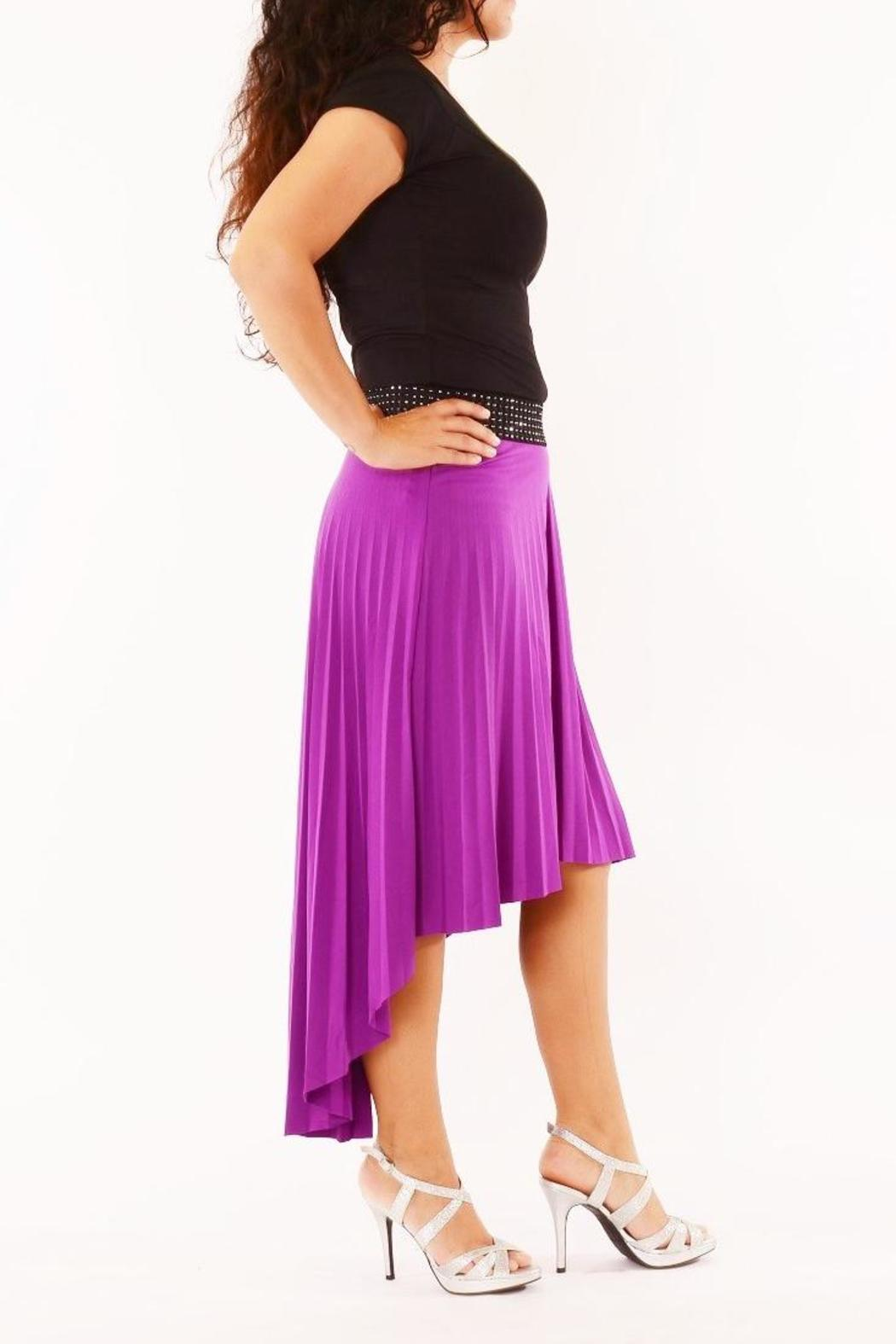 jon hi low pleated skirt from indiana by uptown