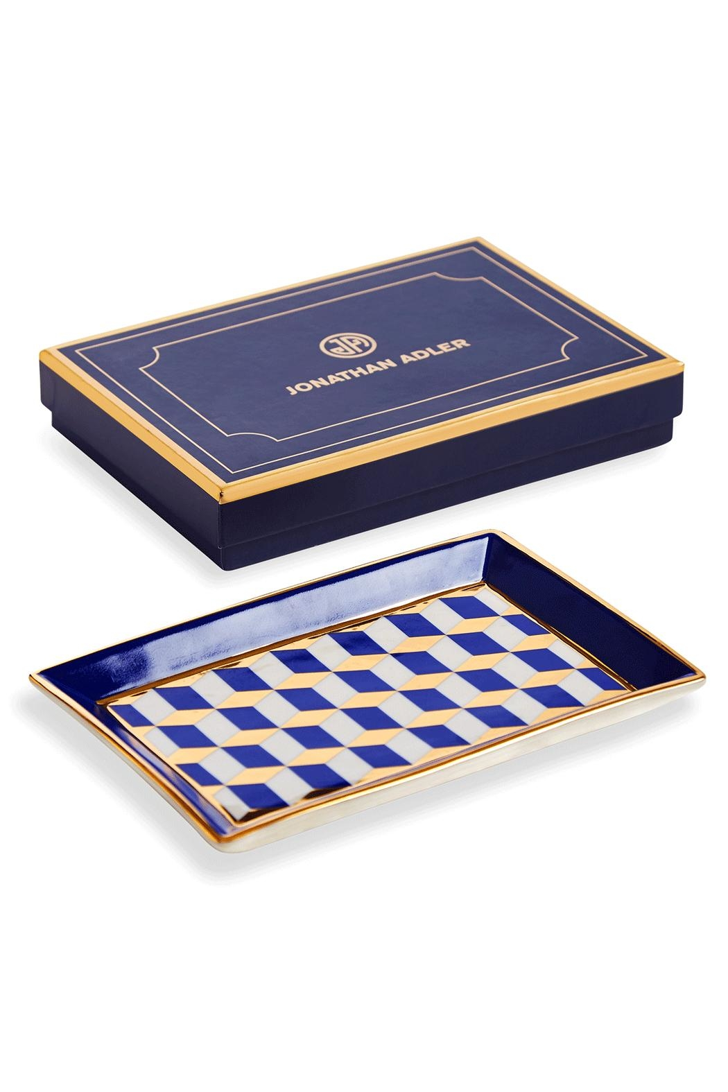 Jonathan Adler Versailles Rectangle Tray - Front Full Image