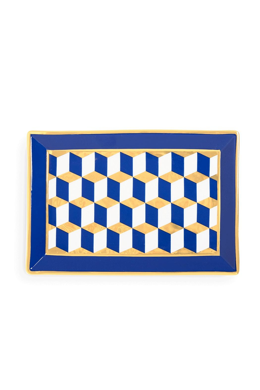 Jonathan Adler Versailles Rectangle Tray - Side Cropped Image