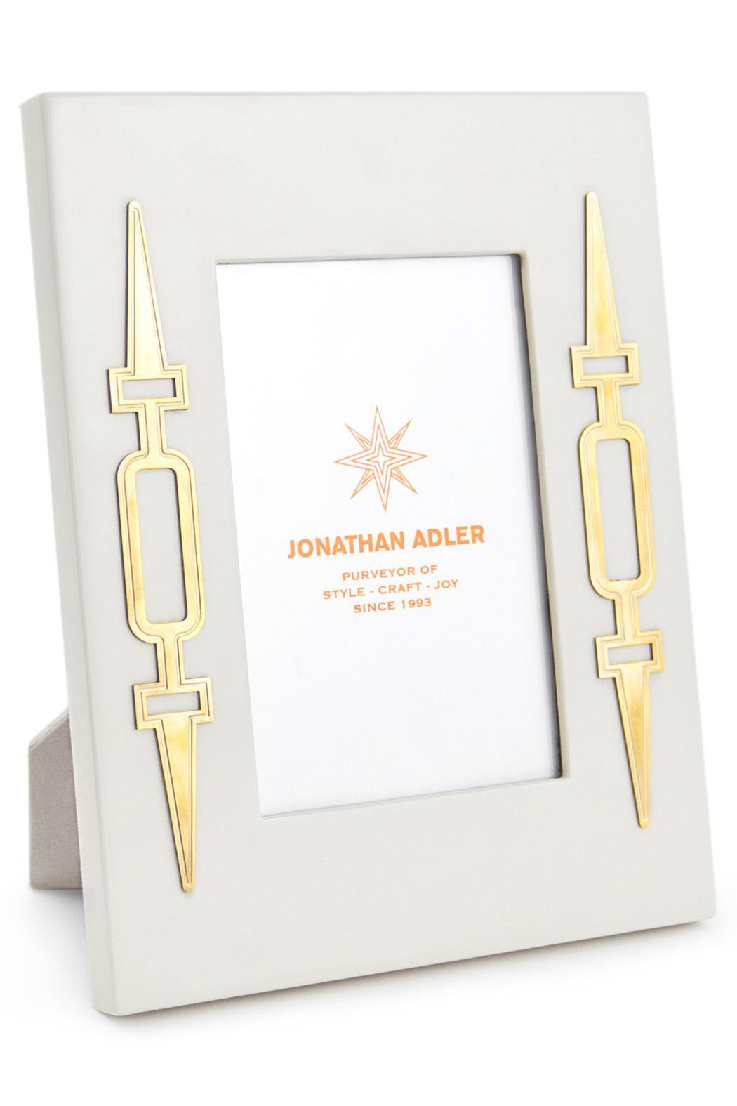 Jonathan Adler White Brass Frame from Amarillo by Panache — Shoptiques