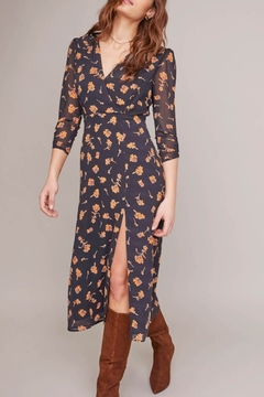 ASTR Joni Floral Midi Dress - Product List Image