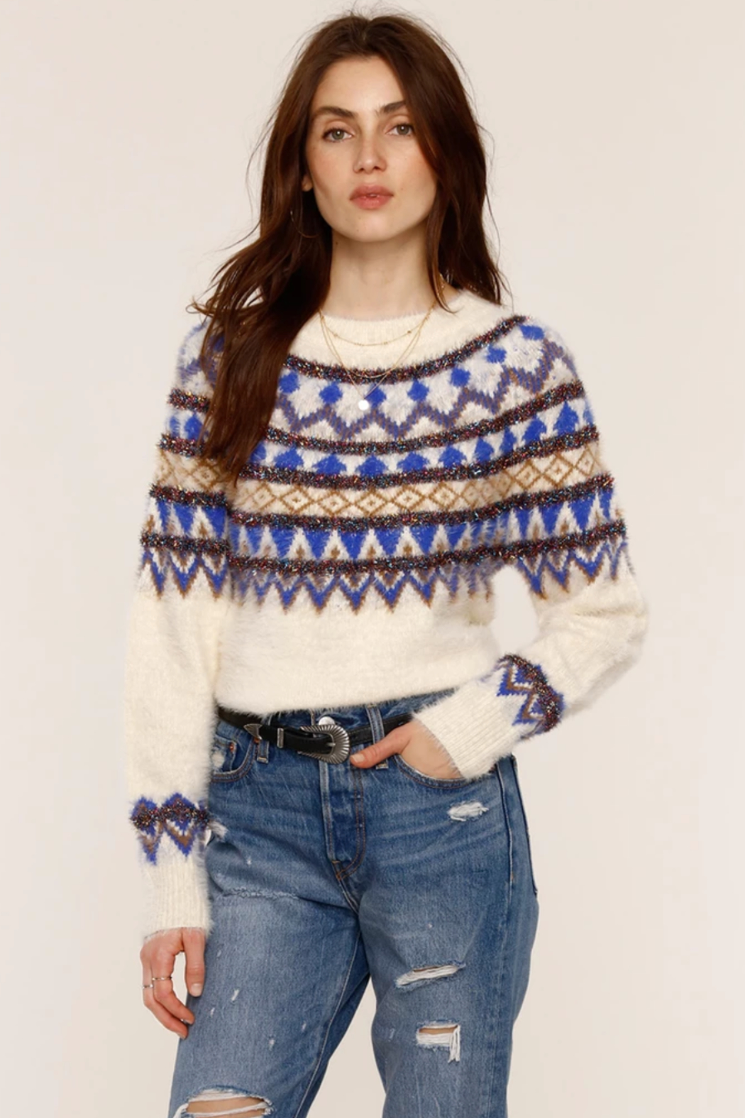 Heartloom Joni Sweater - Front Cropped Image
