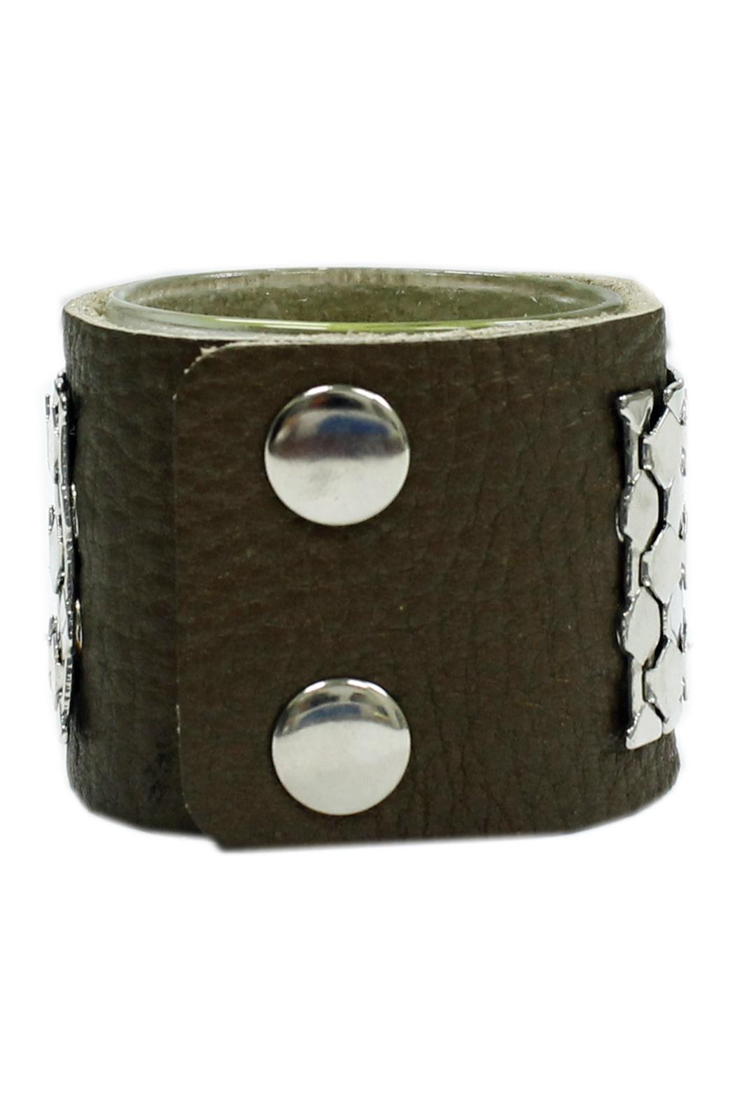 JOOLZ Leather-Silver Bracelet - Front Full Image