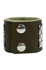 JOOLZ Leather-Silver Bracelet - Front full body