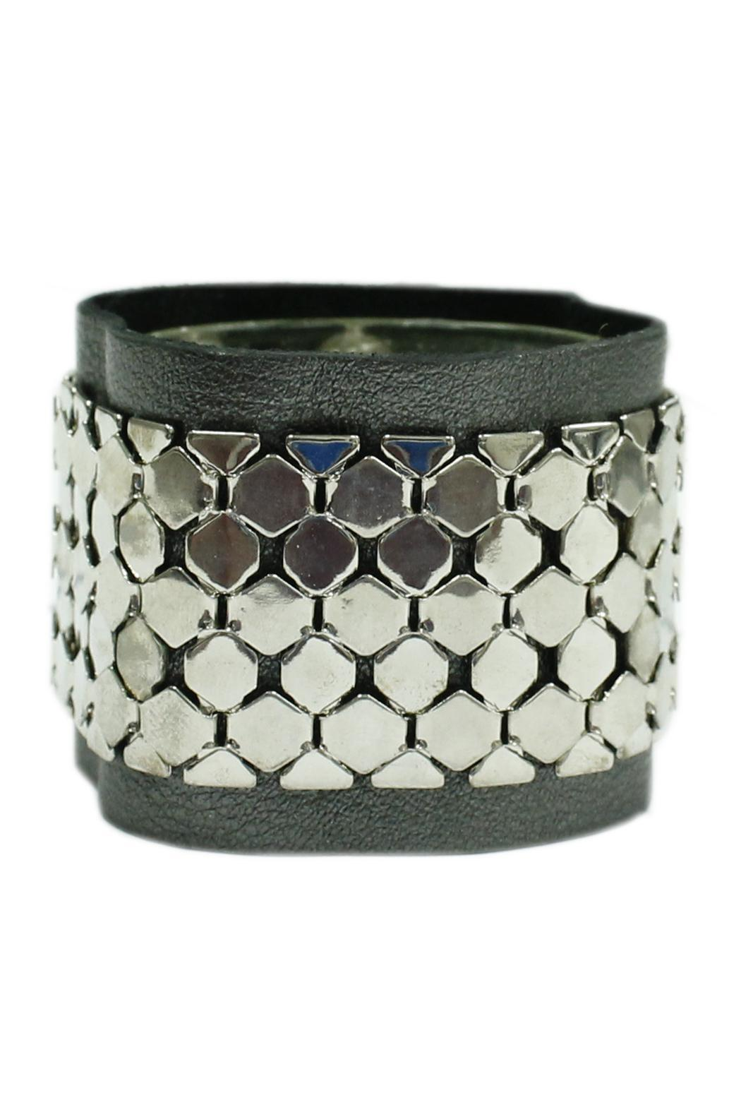 JOOLZ Leather-Silver Bracelet - Front Cropped Image