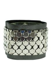 JOOLZ Leather-Silver Bracelet - Front cropped
