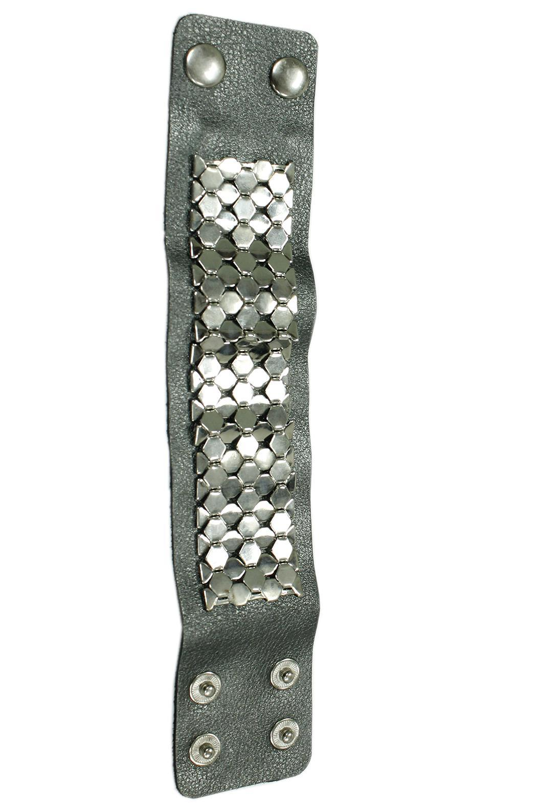 JOOLZ Leather-Silver Bracelet - Side Cropped Image