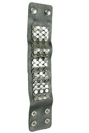 JOOLZ Leather-Silver Bracelet - Side cropped
