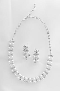 Shoptiques Product: Pearl Zirconia Necklace Set