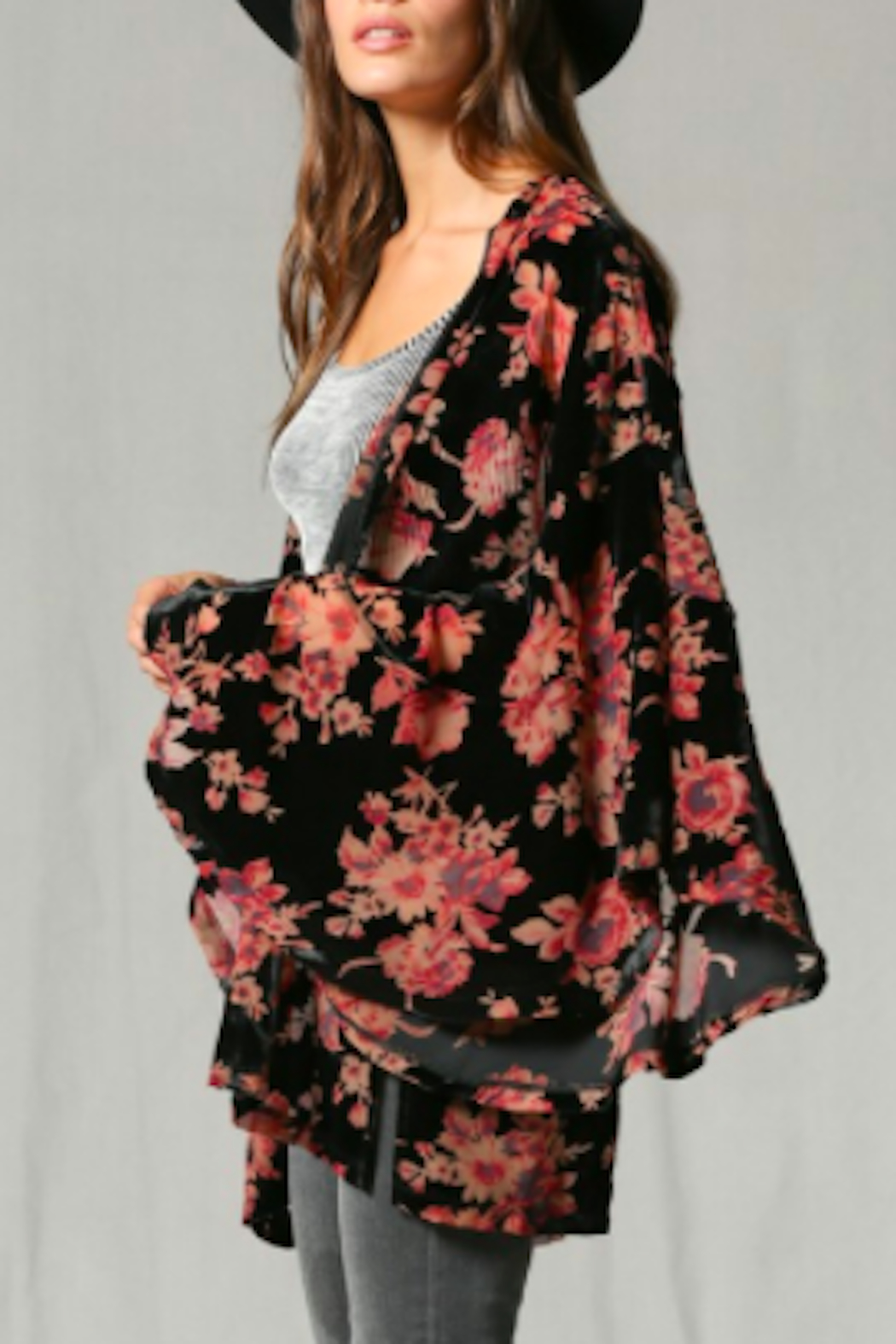 By Together Joplin Burnout Kimono - Front Full Image