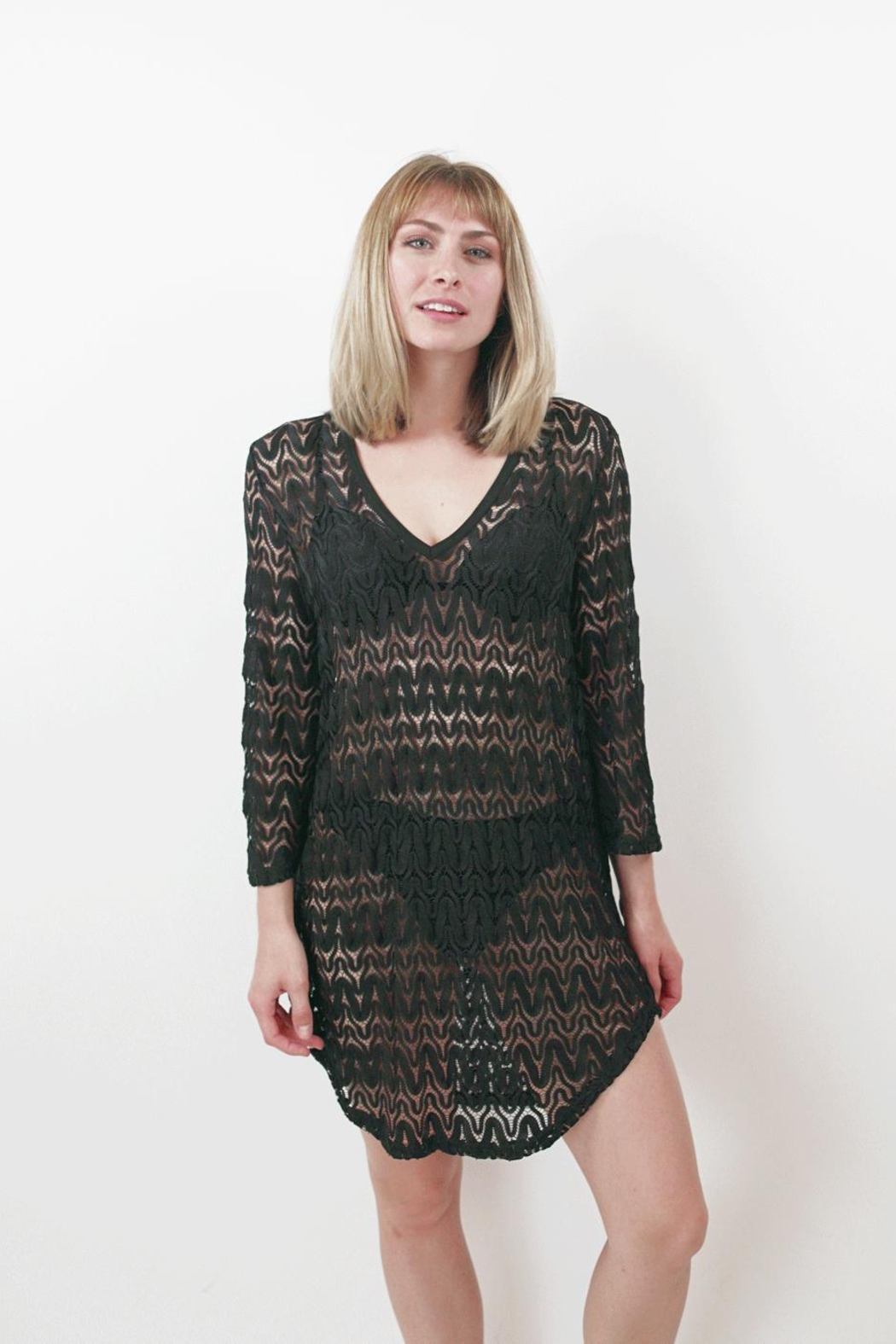 Jordan Taylor Mesh Tunic Cover-Up - Front Cropped Image