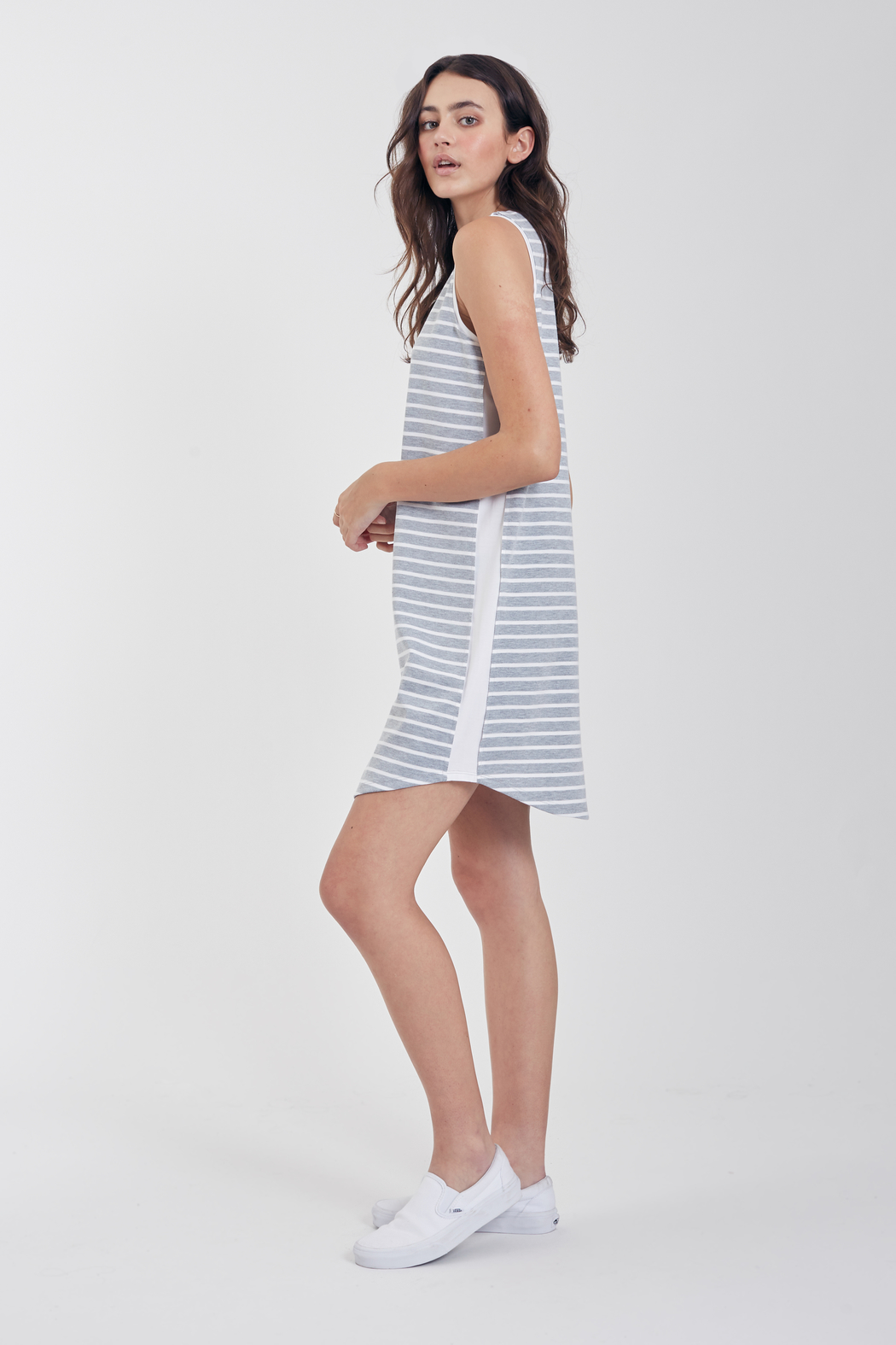Another Love  Jordana Knit Tee Dress - Front Full Image