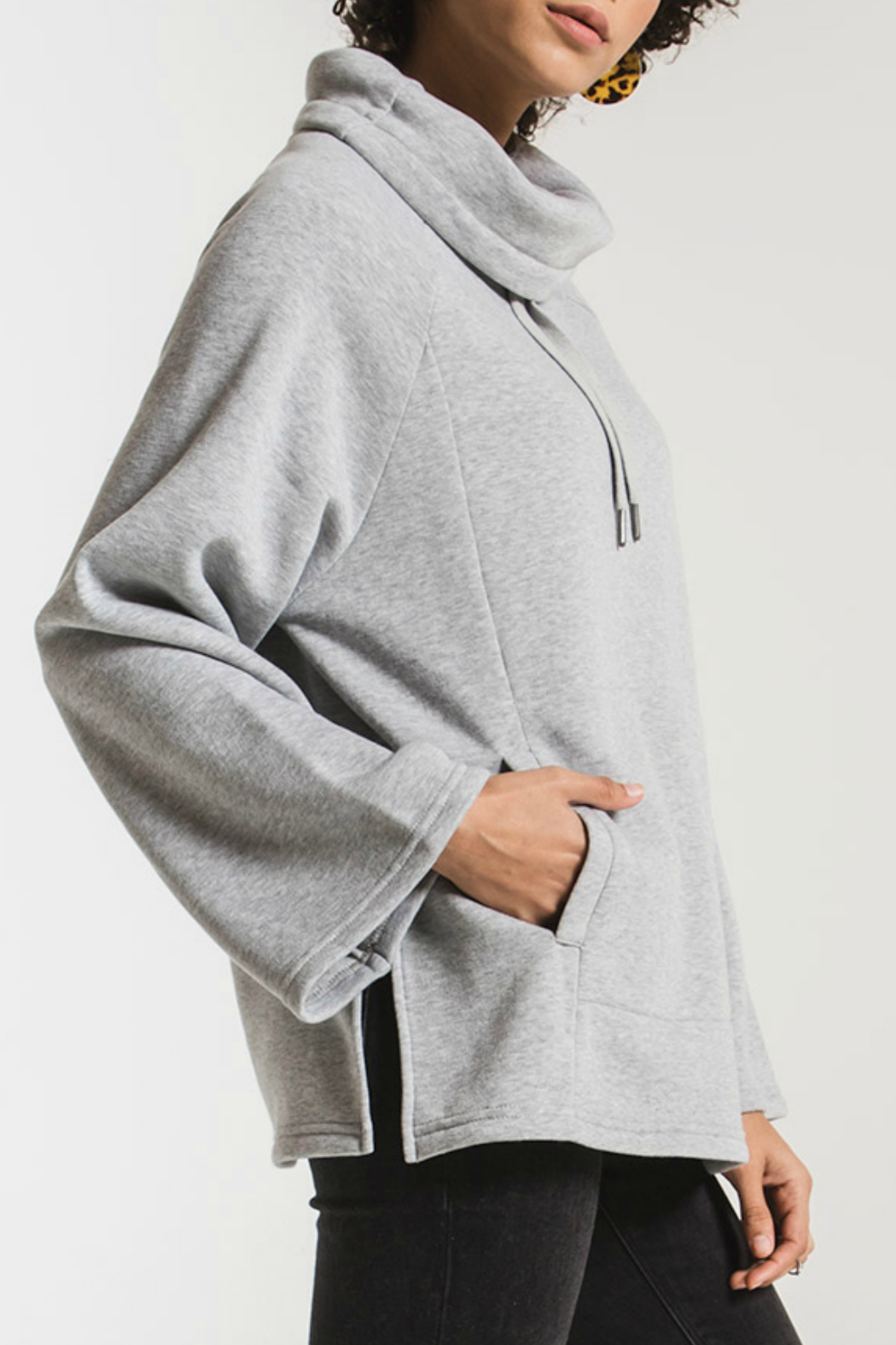 z supply Jordyn Loft Fleece Pullover - Front Full Image