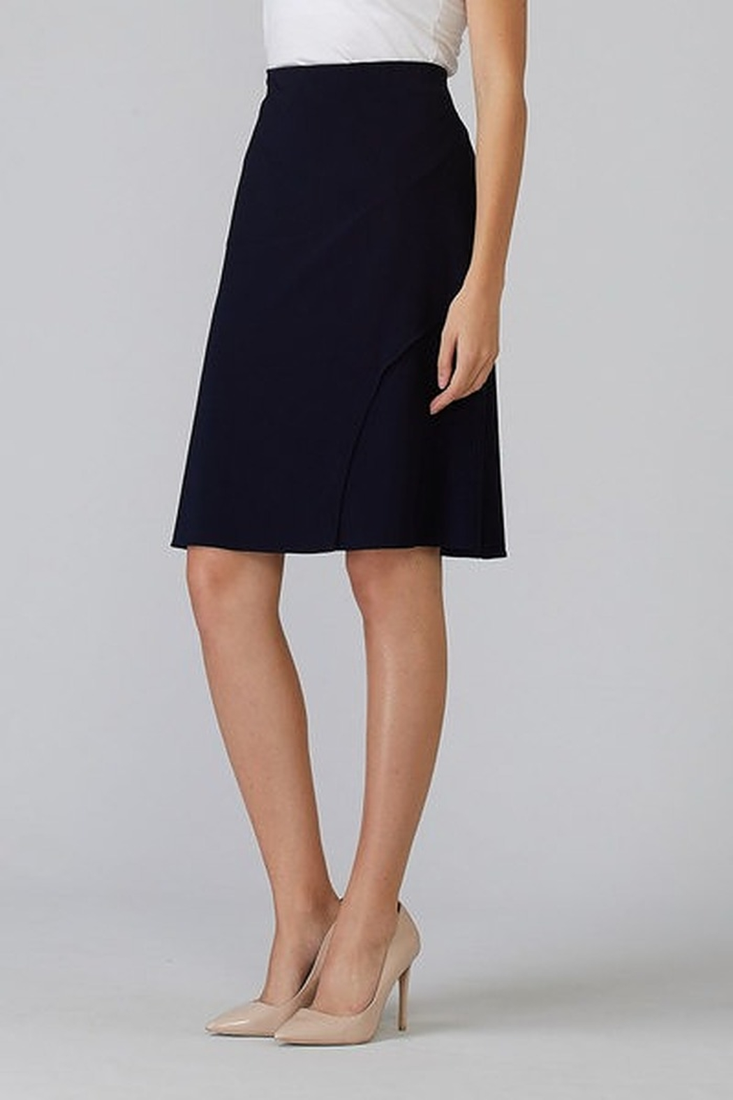 Joseph Ribkoff  A line knee length skirt - Front Cropped Image
