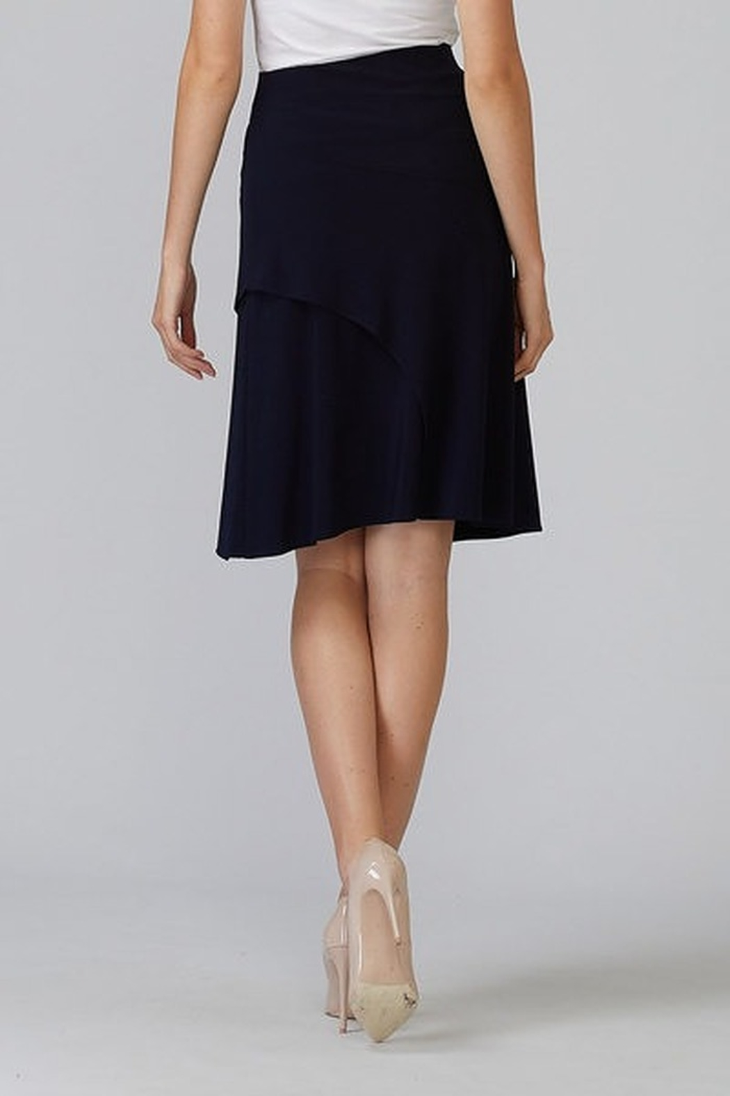 Joseph Ribkoff  A line knee length skirt - Side Cropped Image