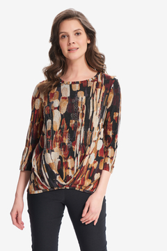 Joseph Ribkoff Abstract Print Knit Top Style 214164 - Product List Image
