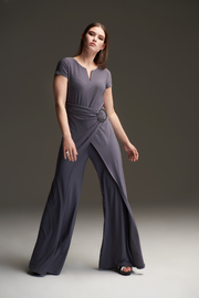 Joseph Ribkoff Belted Jumpsuit - Front full body