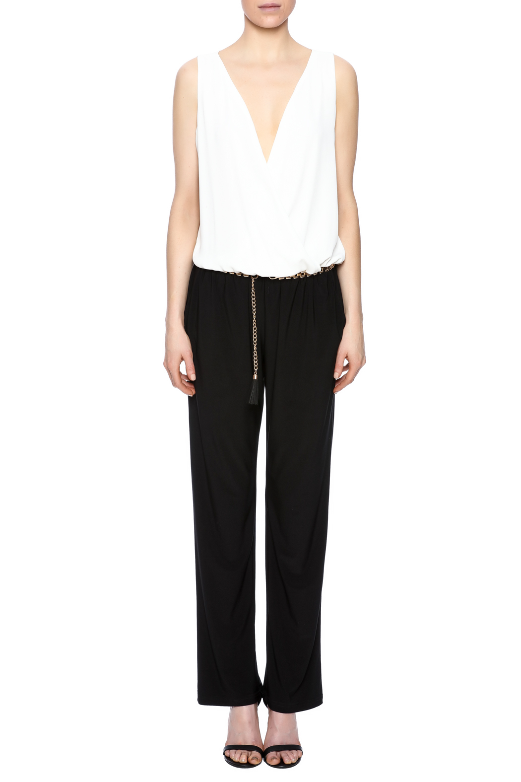 Joseph Ribkoff Belted Jumpsuit - Front Cropped Image
