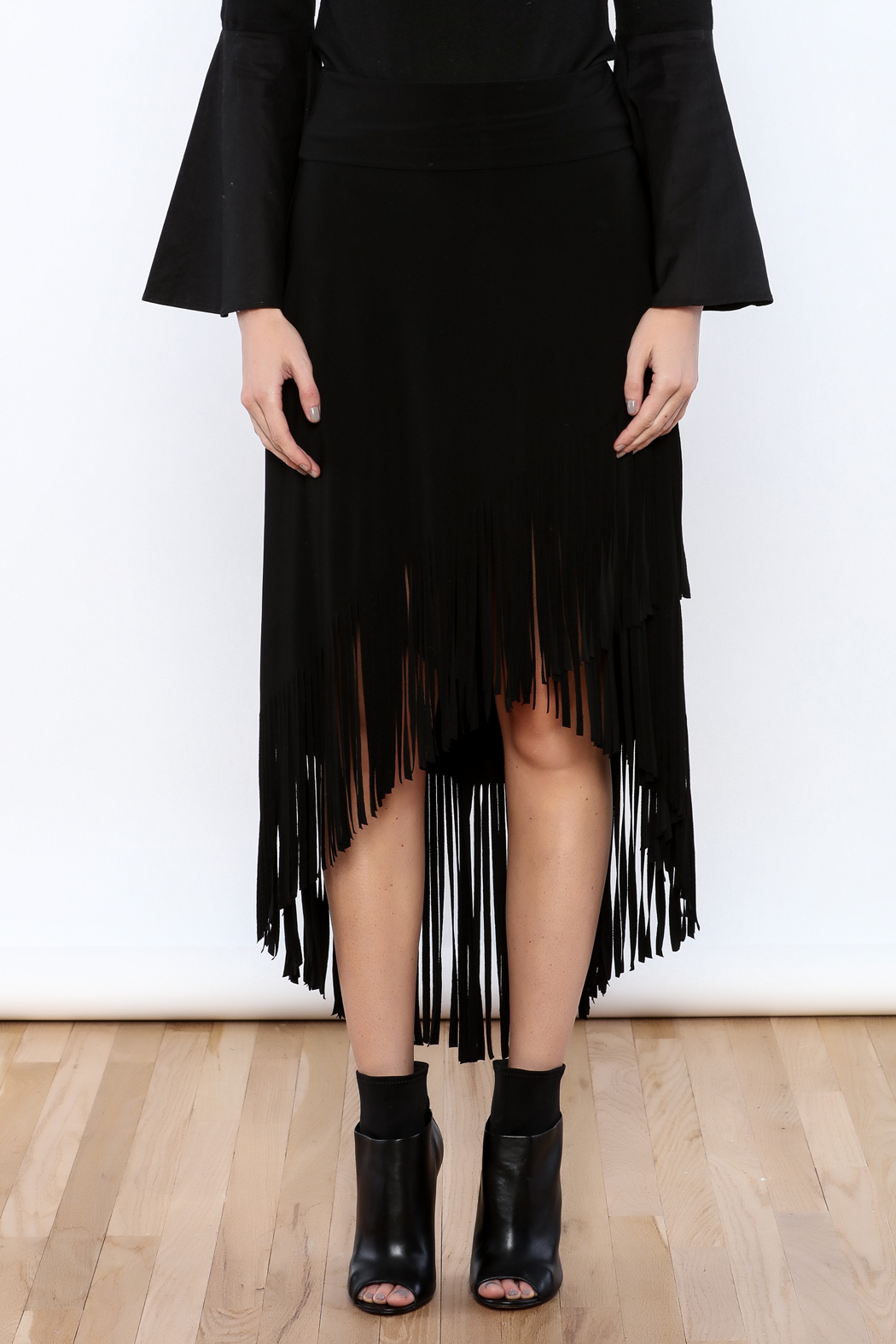 Joseph Ribkoff Fringed Skirt - Side Cropped Image