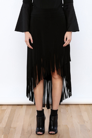 Joseph Ribkoff Fringed Skirt - Side cropped
