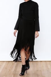 Joseph Ribkoff Fringed Skirt - Front full body