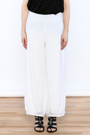 Joseph Ribkoff White Palazzo Pants - Side cropped