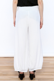 Joseph Ribkoff White Palazzo Pants - Back cropped